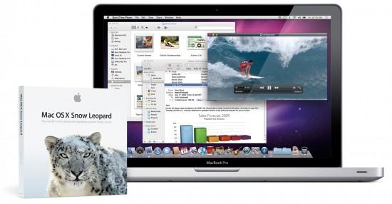 MacBook Pro e caixa do Mac OS X 10.6 Snow Leopard