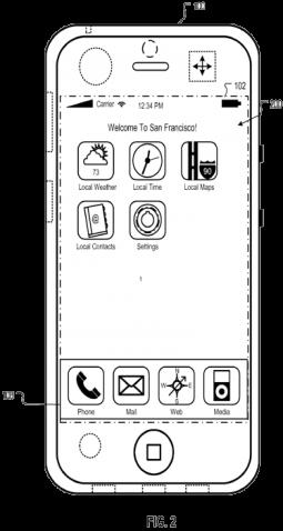 Patente sobre Home Screen Geolocalizada no iPhone