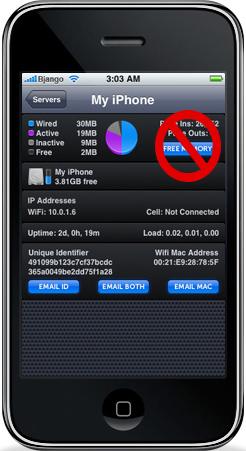 iStat para iPhone sem Free Memory