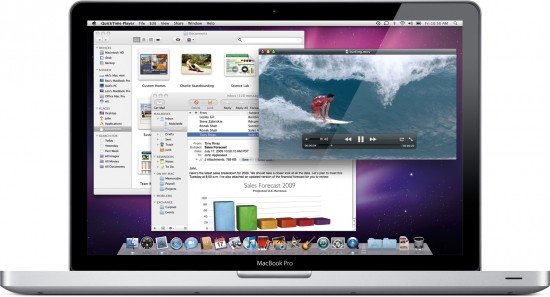 Mac OS X 10.6 Snow Leopard num MacBook Pro