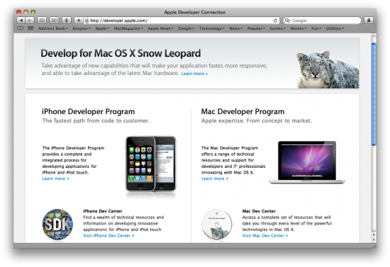 Apple Developer Connection