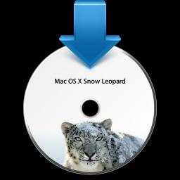 Ícone de instalação do Mac OS X 10.6 Snow Leopard