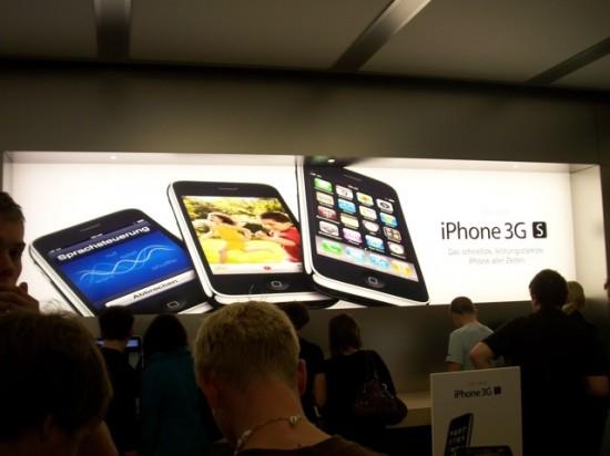 Painel de luz do iPhone 3GS.
