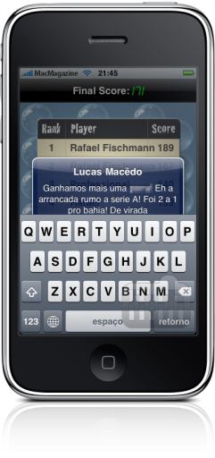 iPhone FAIL teclado e SMS