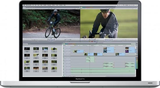Final Cut Pro 7 rodando num MacBook Pro