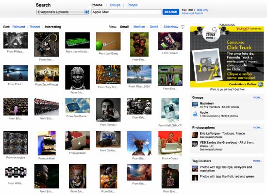 Nova busca do Flickr