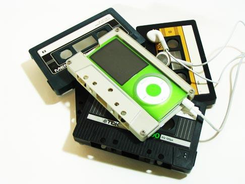 iPod Nano Case feito com fitas cassete
