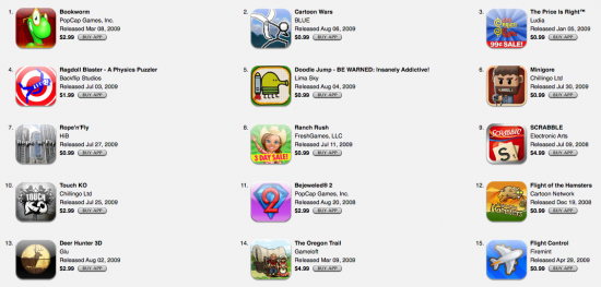 Games dominam a App Store