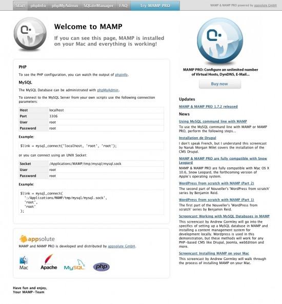 MAMP Pro