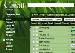 Tema do Gmail