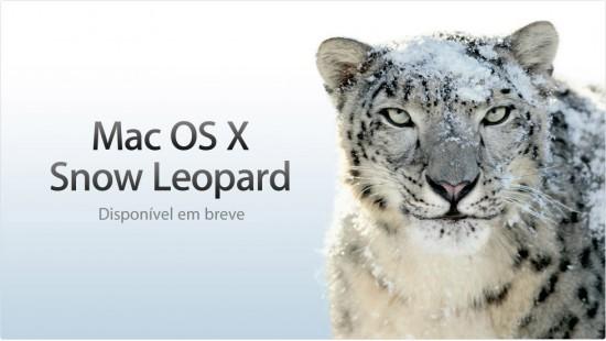 Mac OS X 10.6 Snow Leopard na Apple Brasil