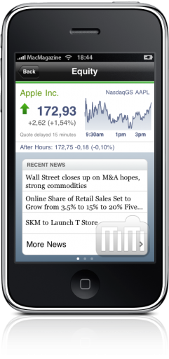 Yahoo! Finance no iPhone