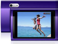Câmera de vídeo do iPod nano