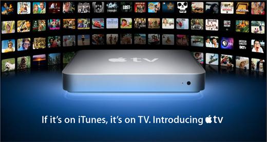 Apple TV e iTunes na televisão