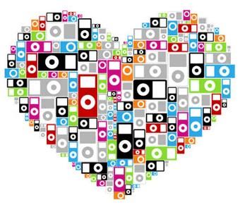 10 - iPods coração