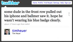 Tweets sobre o Ballmer
