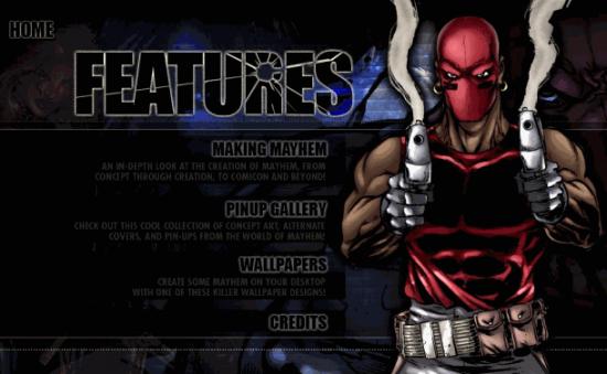 e-Comic Mayhem Features