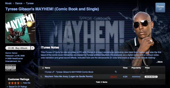 Tyrese Gibson Mayhem Single