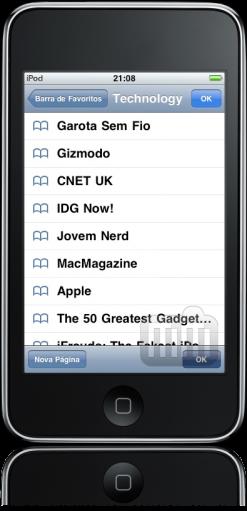 iPod touch FAIL Favoritos e abas
