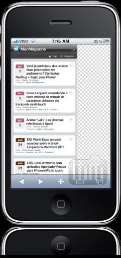 iPhone FAIL Safari espremido