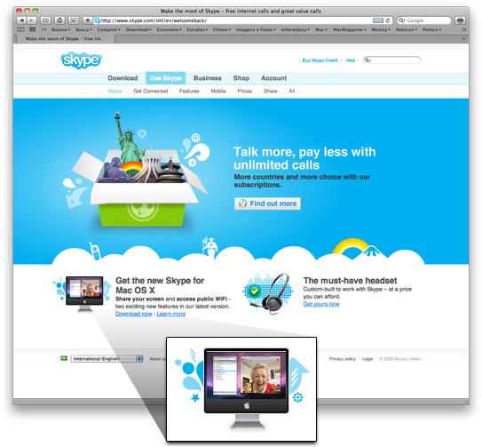 iMac preto Skype