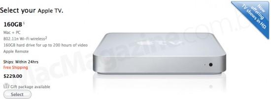 Apple TV de 160GB na Online Store
