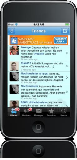 Wiindows Marketplace no iPhone