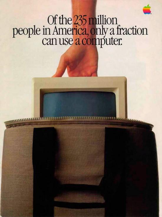 Evolução de propagandas da Apple