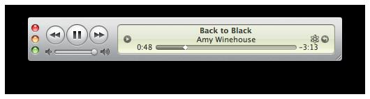 Mini Player do iTunes 9