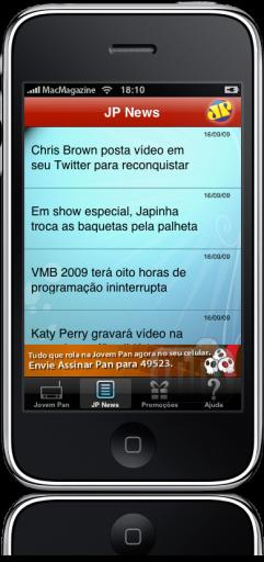 Rádio Jovem Pan no iPhone