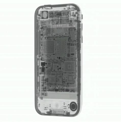 iPhone 3GS em raio X