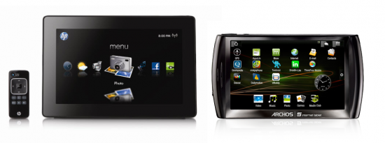 HP Dreamscreen & Archos 5