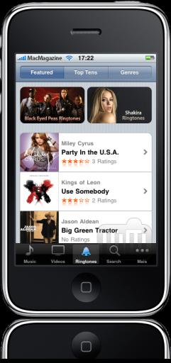 Ringtones no iTunes do iPhone OS 3.1