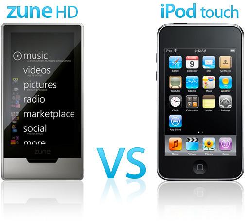 Zune HD vs. iPod touch