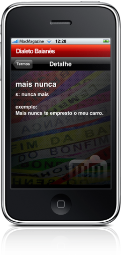 Dialeto Baianês no iPhone
