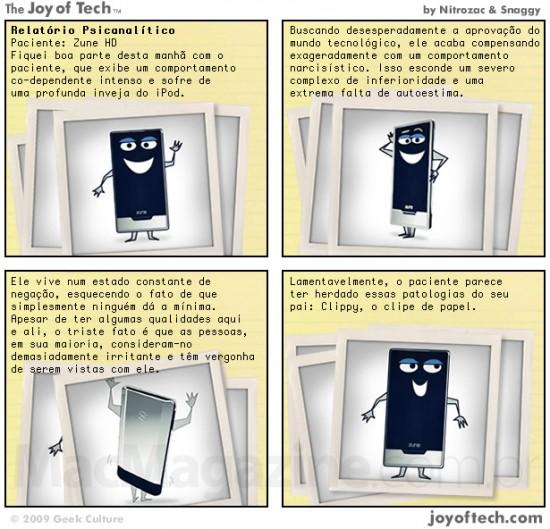 Joy of Tech - a psicanalise de um Zune HD