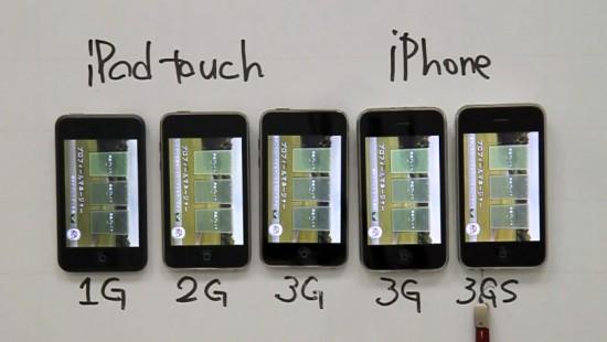 Velocidade de gadgets da Apple