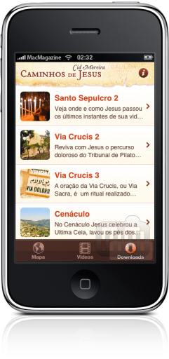 Caminhos de Jesus no iPhone