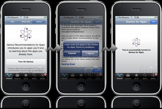 Ativando Genius for Apps no iPhone