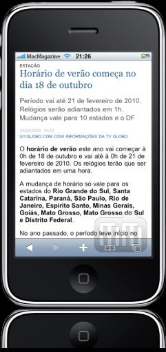 Gazeta do Povo no iPhone