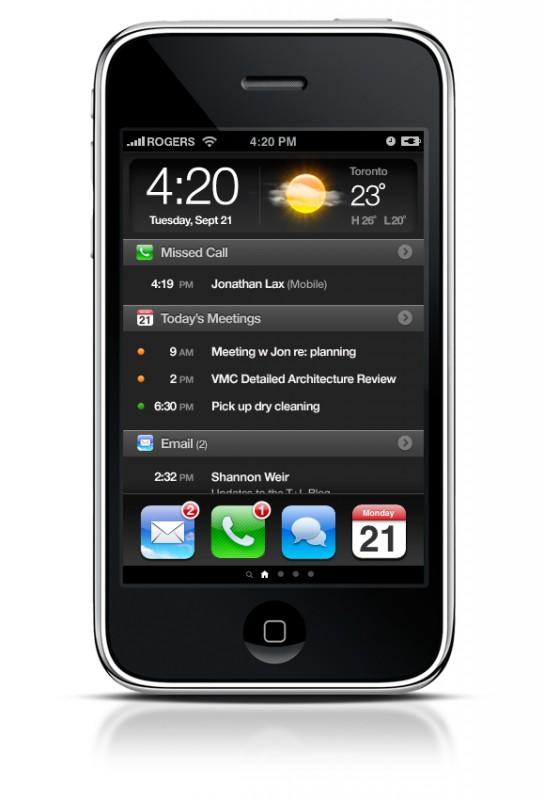 Redesign da tela do iPhone