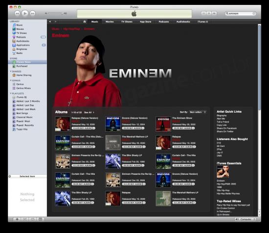 Sim, Eminem continua firme e forte na iTunes Store! ;-)