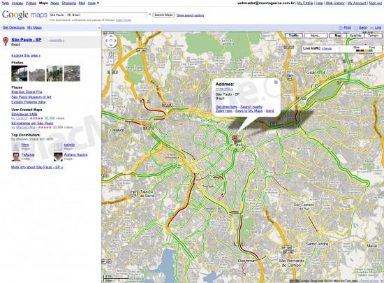 Trânsito no Google Maps