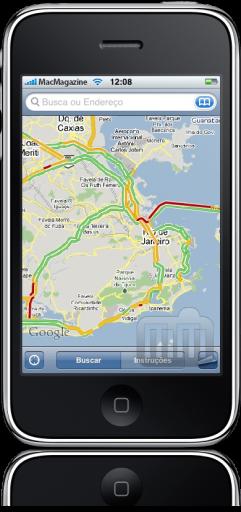 Trânsito do Google Maps no iPhone