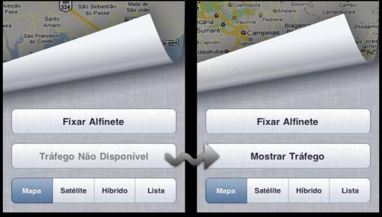 Habilitando camada de Trânsito do Google Maps no iPhone