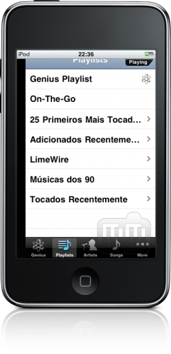 Playlists tortas no iPod touch