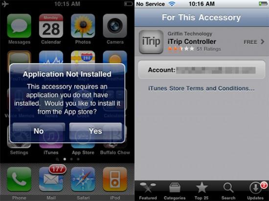 Download de app para acessório de iPhone