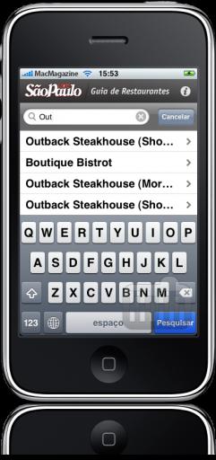 Guia ÉPOCA SP de Restaurantes no iPhone