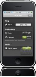Ping! no iPhone