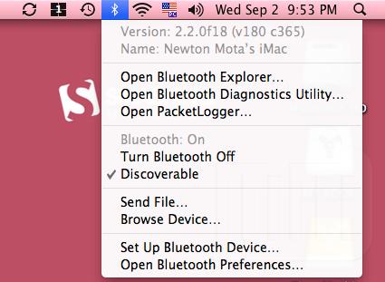 Snow Leopard UI - Option Bluetooth 2